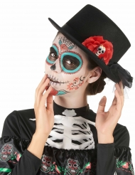 Cappello a cilindro Dia de los muertos per adulto