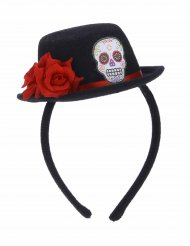 Cerchietto con mini cappello Dia de los muertos per adulto