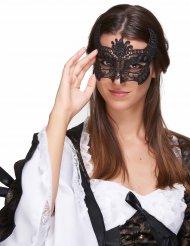 Maschera in pizzo nero per donna