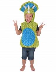 Costume da dinosauro verde e blu per bambino