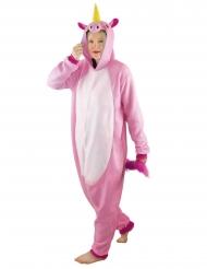 Costume tuta integrale da unicorno rosa per adulto