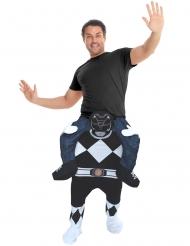 Costume Carry Me uomo sulle spalle di un Power Rangers™ Nero per adulto Morphsuits