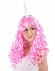 Parrucca rosa unicorno per adulti