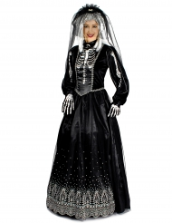 Costume da sposa in nero per donna Halloween