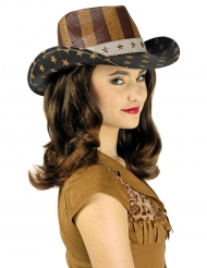 Cappello da far west USA lusso per adulto