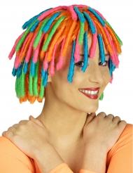 Parrucca rasta arcobaleno  da donna