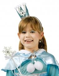Bacchetta e corona da principessa del cristallo di ghiaccio per bambina