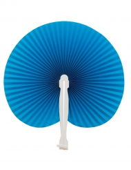 Ventaglio pieghevole blu