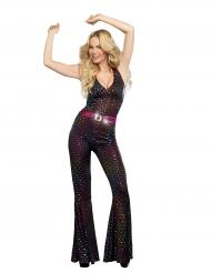 Costume disco deluxe paillettes multicolore per donna
