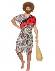 Costume da uomo preistorico rosso per adulto