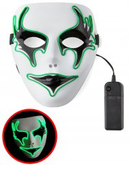 Maschera luminosa fantasma verde per adulti