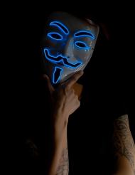 Maschera  blu anonimo luminosa