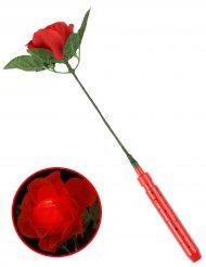 Rosa rossa luminosa 35 cm