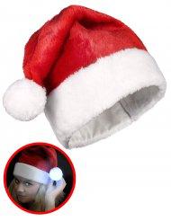 Cappellino di Babbo Natale con pon pon luminoso
