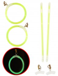 Orecchini luminosi verde fosforescente