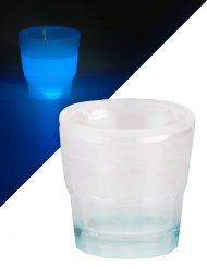 Bicchiere per shot blu luminoso 50 ml