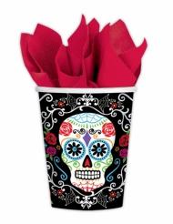 10 Bicchieri in plastica dia de los muertos 266 ml