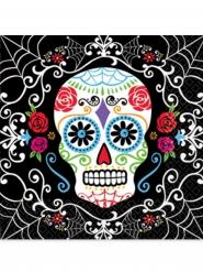 20 Tovaglioli di carta Dia de los Muertos