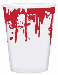 25 Bicchieri in plastica insanguinati halloween