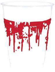 10 Bicchieri in plastica sanguinanti per halloween
