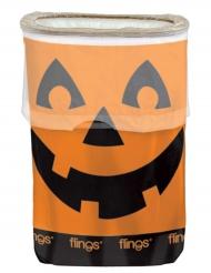 Cestino in plastica Zucca di Halloween