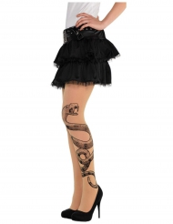 Calze con tatuaggio serpente per donna