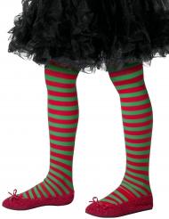 Calze a righe verdi e rosse elfo per bambino