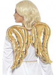 Ali da angelo in tessuto dorato per adulto
