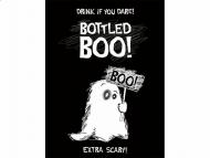 10 Etichette adesive con fantasma per bottiglia halloween