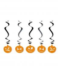 5 Decorazioni a sospensione zucca di halloween