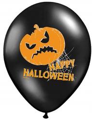 6 Palloncini con zucca Happy Halloween