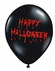 6 palloncini neri Happy Halloween