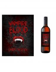 10 etichette vampiro per bottiglia Halloween