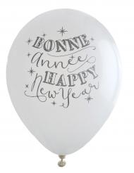 8 palloncini Happy New Year/ Bonne année