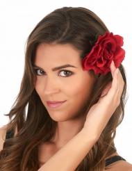 Molletta per capelli con rosa rossa per adulto