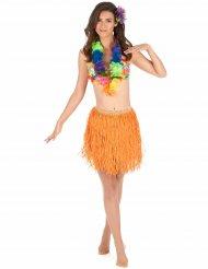 Image of Gonna corta  hawaiana arancione