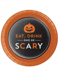 8 piattini di carta Eat Drink and Be Scary