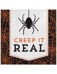 16 Tovaglioli di carta Halloween Creep it real