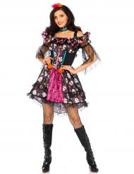 Costume bambola colorata per donna Dia de los muertos