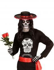 T-shirt da Scheletro messicano per uomo