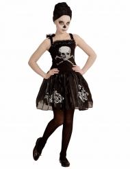 Costume da ballerina con teschio per bambina