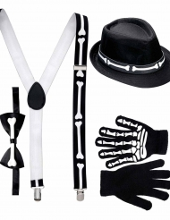 Kit gentleman scheletro Halloween per adulto