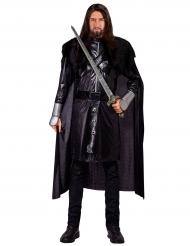 Costume da cavaliere nero uomo