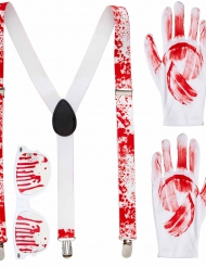 Kit accessori insanguinati Halloween per adulto