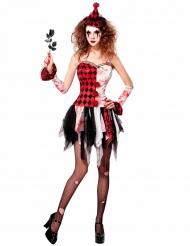 Costume giullare infernale per donna halloween