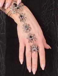 Braccialetto e anello ragno Halloween per donna