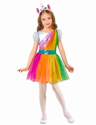 Costume unicorno arcobaleno da bambina
