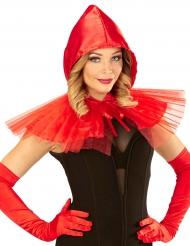 Mini mantello rosso con cappuccetto donna