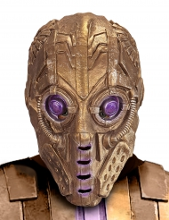 Maschera dorata da robot per adulto