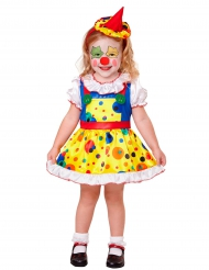 Costume mini clown giallo da bambina